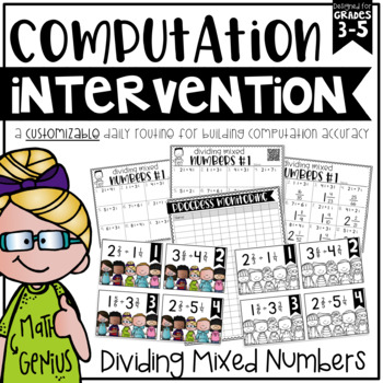 Dividing Mixed Numbers {Task Cards, Intervention, and Homework}