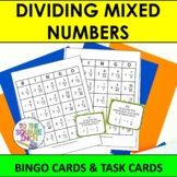 Dividing Mixed Numbers Bingo