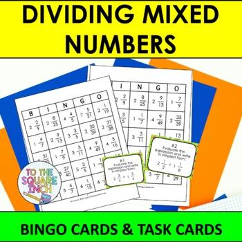 Dividing Mixed Numbers Bingo