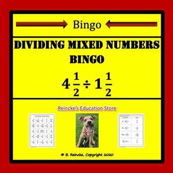 Dividing Mixed Numbers Bingo (30 pre-made cards!)