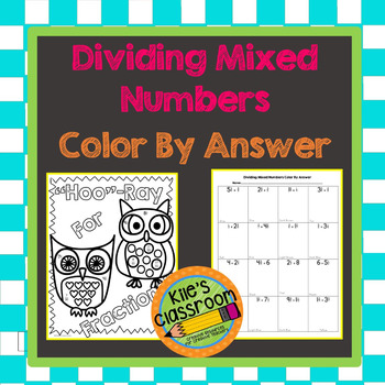 Dividing Mixed Numbers Color by Answer