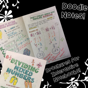 Dividing Mixed Numbers - Doodle Note Brochure for Interactive Notebooks