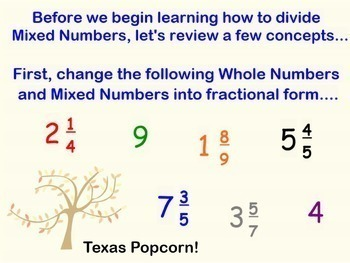Dividing Mixed Numbers Fractions Divide Fraction Smartboard Lesson