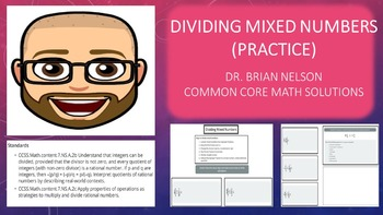 Dividing Mixed Numbers Practice (PowerPoint Lesson with Pr