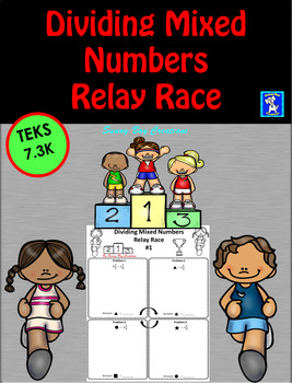 Dividing Mixed Numbers Relay Race