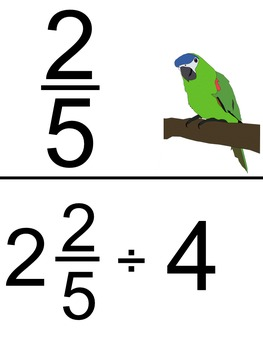 Dividing Mixed Numbers - Scavenger Hunt