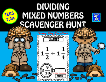 Dividing Mixed Numbers Scavenger Hunt
