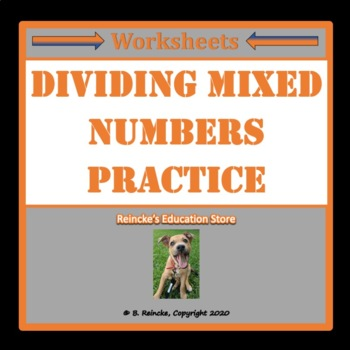 Dividing Mixed Numbers Practice Worksheets