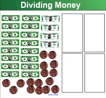 Dividing Money Smart Notebook