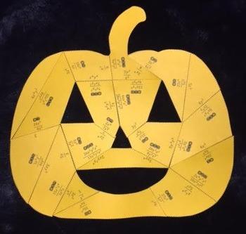 Dividing Monomials (Pumpkin Puzzle)