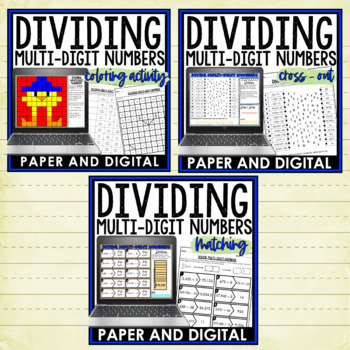 Dividing Multi-Digit Numbers Activity Pack 6.NS.B.2