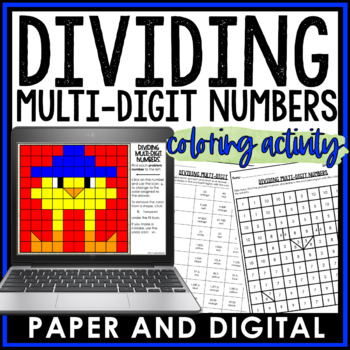 Dividing Multi-Digit Numbers Coloring Activity 6.NS.B.2