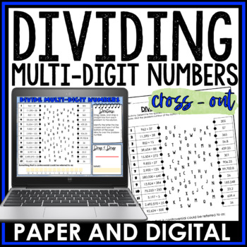 Dividing Multi-Digit Numbers Cross Out Activity 6.NS.B.2