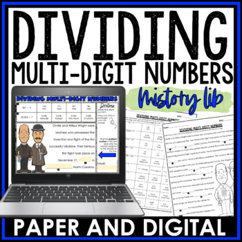 Dividing Multi-Digit Numbers Mistory Lib Activity 6.NS.B.2