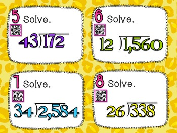 Dividing Multi-Digit Numbers **QR CODE Task Cards**