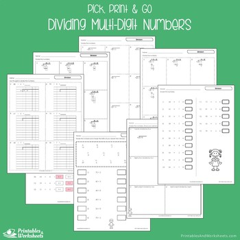 Dividing Multi-Digit Numbers Worksheets With Answer Keys