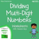 Multi-Digit Division Worksheets 4Th Grade Up, Dividing Using Standard Algorithm