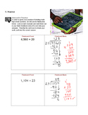 Dividing Multi-Digit Whole Numbers  Grade 6 Lesson Plan