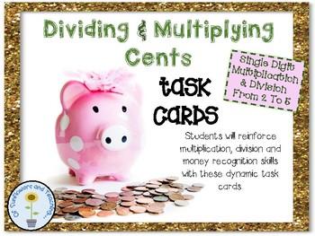 Dividing & Multiplying with Cents - Mult.,Div. & Money Skills!