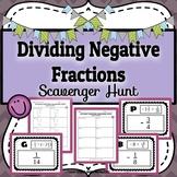 Dividing Negative Fractions (Rational Numbers) Scavenger H
