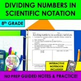 Dividing Numbers in Scientific Notation Notes