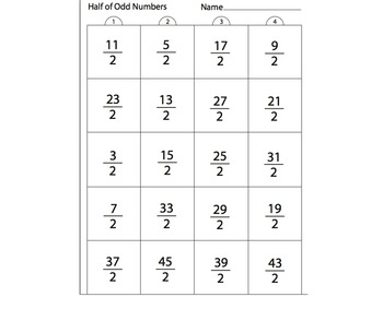 Dividing Odd Numbers