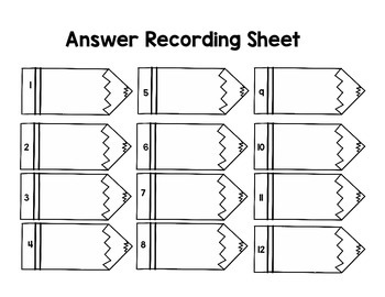 Dividing Pencil Task Cards - Set 2