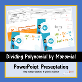 Dividing Polynomial by Monomial