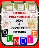 Dividing Polynomials Bundle (Long and Synthetic Division)