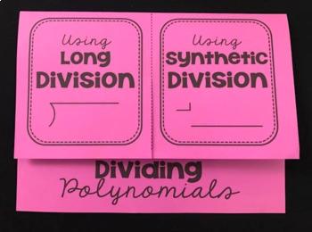 Dividing Polynomials (Foldable)