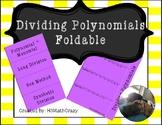 Dividing Polynomials Foldable