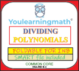 Dividing Polynomials: Foldable for INB + SMART Notebook File