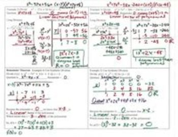 Polynomials Lesson 6 Dividing with Long and Synthetic Division