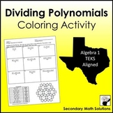 Dividing Polynomials by a Monomial Coloring Activity  (A10C)