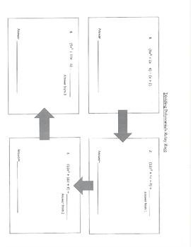 Dividing Polynomials Relay Race Activity