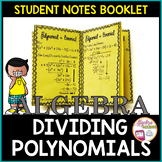 Dividing Polynomials Student Notes Booklet