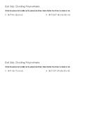 Dividing Polynomials - Synthetic and Long