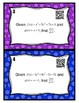 Dividing Polynomials Task Cards (with or without QR codes)