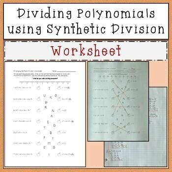 Dividing Polynomials using Synthetic Division Joke Worksheet
