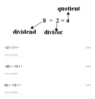 Dividing Positive & Negative Integers (Google Form & Interactive Video Lesson!)