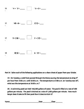 Integers 12 - Dividing Positive and Negative Integers