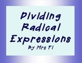 Radical Expressions - Division  Task Cards