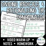 Dividing Radicals and Rationalizing the Denominator Lesson