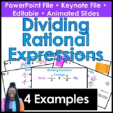 Dividing Rational Expressions PowerPoint/ Keynote Presentation