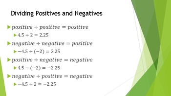 Dividing Rational Numbers PowerPoint