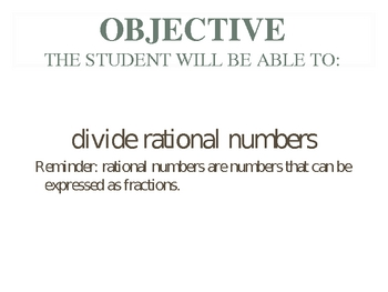 Dividing Rationals PowerPoint