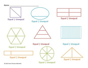 Dividing Regions into Equal Parts: Equal or Unequal?