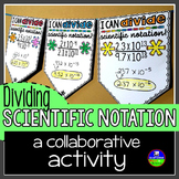 Scientific Notation Pennant Activity for Dividing