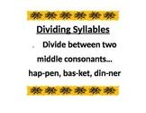 Dividing Syllables 1