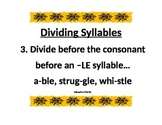 Dividing Syllables 3